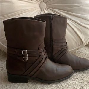 Ralph Lauren brown leather ankle boots